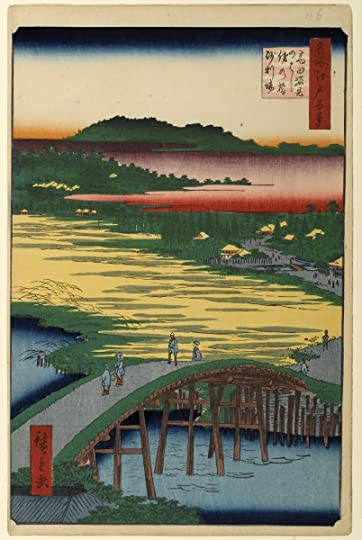 Sugatami Bridge, Omokage Bridge, by Utagawa Hiroshige