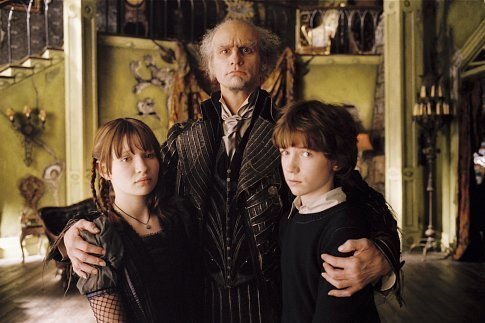 These are most of the characters from A Series of Unfortunate Events  This  picture includes a scene from the first book  The Bad Beginning when Count  Olaf