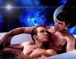 Spock and Kirk in bath
