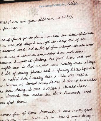 Alice's Diary Entry