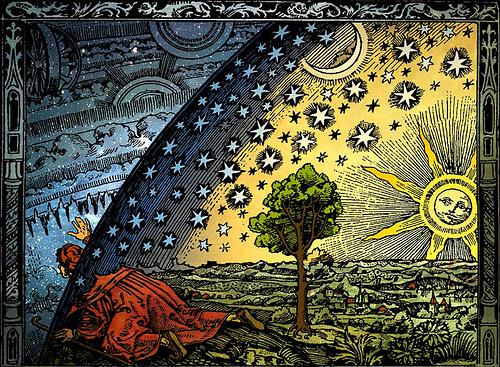 Flat earth- Flammarion woodcut