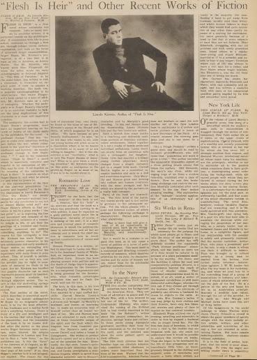 Review of Novel in Vintage Newspaper