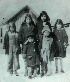 Mexican children in Montana before deportation