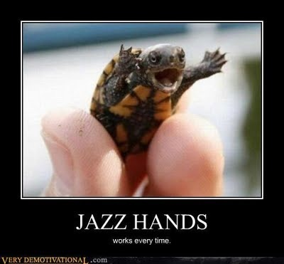Turtle meme doing jazzhands. Your mind is blown.