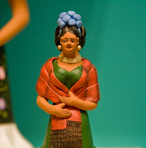 Frida in clay