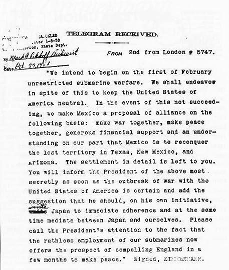The Zimmermann Telegram By Barbara W Tuchman