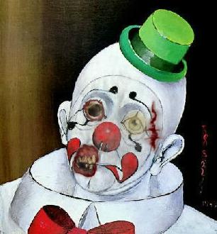 sad zombie clown