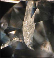 diamond with a flaw