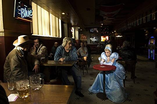 Goldstein's Cinderella at a bar with cowboys leering at her