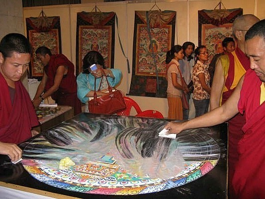 Buddhist Sand Painting