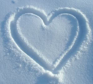 snow heart photo: heart in the snow snow-1.jpg