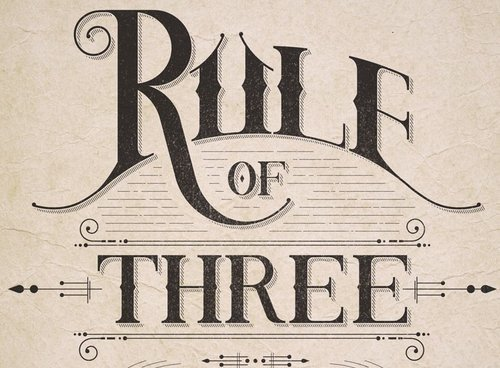 The rule of three: Design principle that states that things are more  appealing when paired in threes. Three makes things more interesting  without being ...