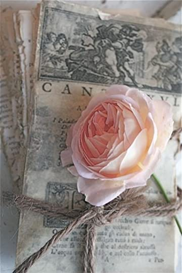 Roses and vintage letters will be eternally romantic