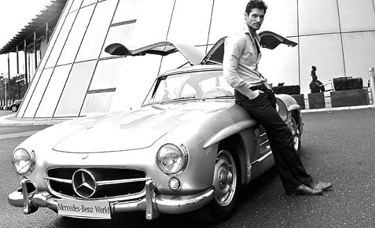 David Gandy with Mercedes Gullwing