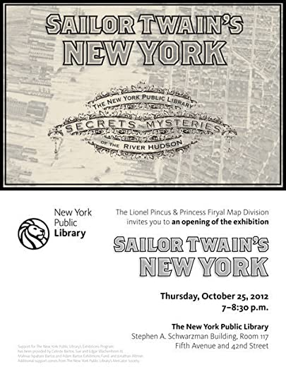 """SAILOR TWAIN'S NEW YORK"" a NYPL exhibit!"