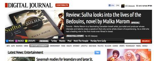 Screen shot Digital Journal article Sulha