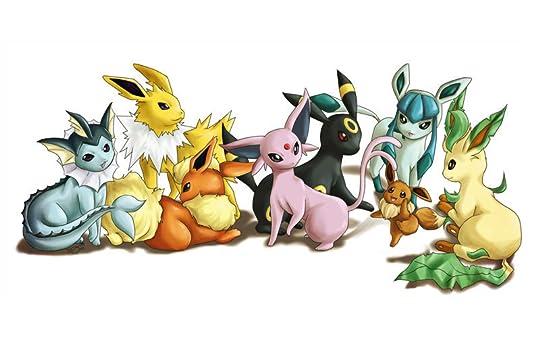 Eeveelutions group 17 members - Famille evoli pokemon ...