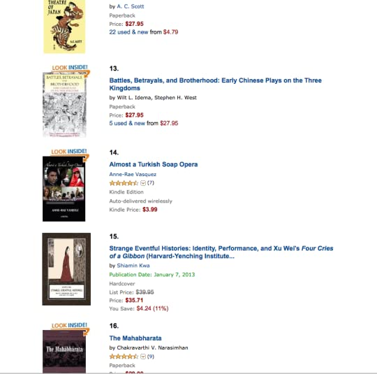 Yippee Almost a Turkish Soap Opera is #14 on Amazon best seller list