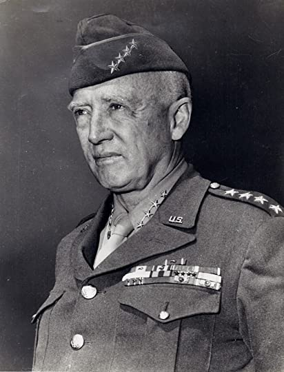 General Patton wearing his 4-star service cap in 1945. Photo by U.S. Army