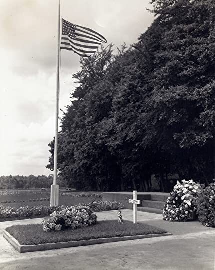 Gravesite of Gen. George Patton at the American Army Cemetery in Hamm, Luxembourg. US Army Photo May 1949.