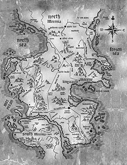 Jade m phillipss blog creating a map for your fantasy novel mers map of merenia i had no idea my book could have such an amazing map gumiabroncs Choice Image