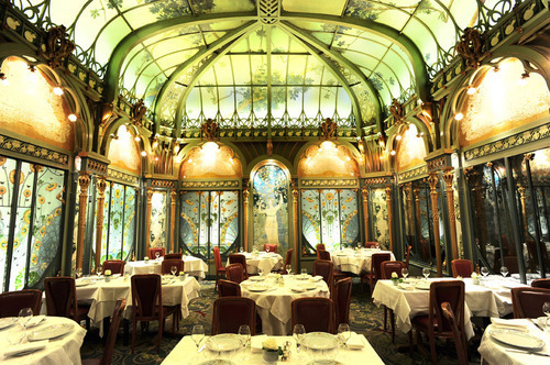 Art Nouveau Restaurant In ParisFrance La Fermette Marbeuf Originally Created Around 1898 1900 As The Dining Room Of Htel Langham Then Covered Up When