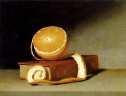 Raphaelle Peale (American artist, 1774-1825) Orange And A Book