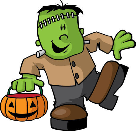 a cartoon Frankenstein Monster