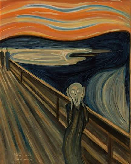 amazoncom the scream of nature edvard munch art print - 432×540