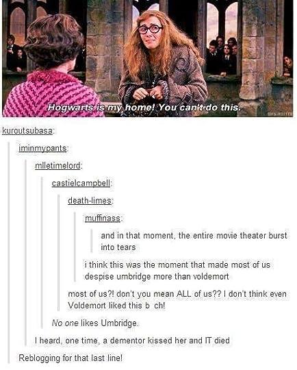 Trelawney vs. Umbridge. I love that last comment!! xD