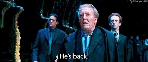 cornelius fudge he's back!!!