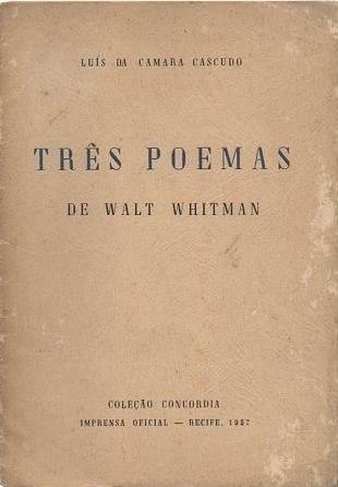 """Resultado de imagem para """"três poemas de walt whitman"""""""