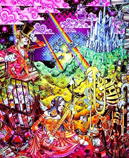 Psychedelic Wallpaper Android: Clown Tear Junkies By Douglas Hackle