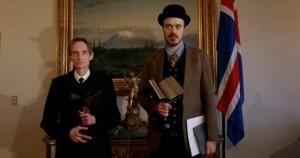 Eiríkur Örn Norðdahl and Gunnar F. Guðmundsson receive the Icelandic literary award.