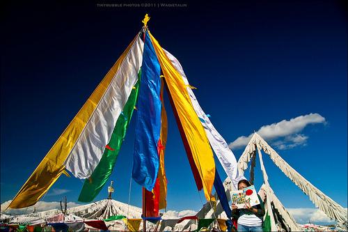 Waqietalin's prayer flags and Tintin!