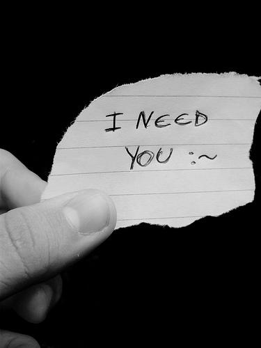 I need you piece of paper
