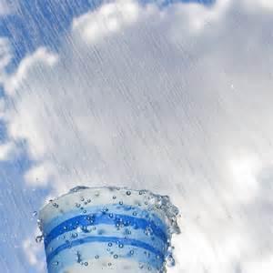 rain in papercup