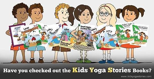 Yoga Kids holding Kids Yoga Stories books