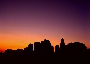 Twilight,-Alpine-Buttes-Wildlife-Sanctuary,-Mojave-Desert,-California