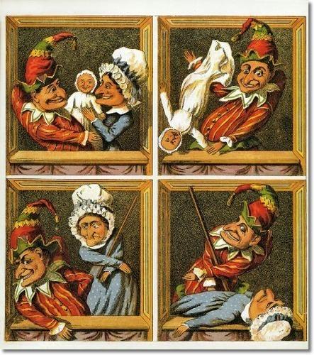 Childrens Illustrations - Childrens Prints - Punch Judy 1880b Painting