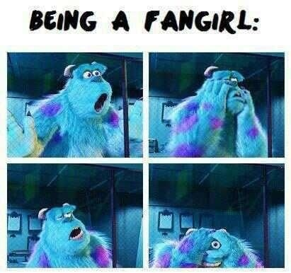 i fangirl exactly like that except with a high pitch scream and a weird laugh... LUL