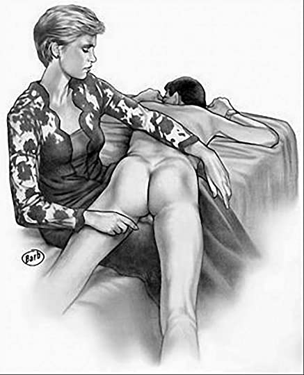 Image result for nanny  spanking drawing