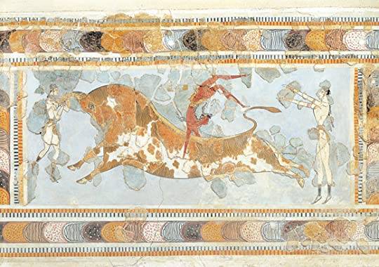 A Minoan fresco from the east wing of the Palace of Knossos. Photograph by D. Dagli Orti/DEA/De Agostini/Getty