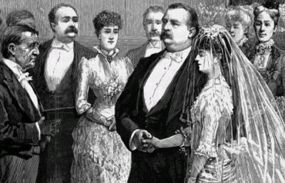 Wedding of Grover Cleveland and Frances Folsom 1886
