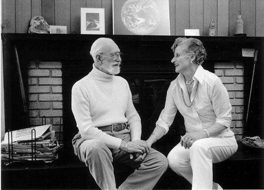 Alice B. Sheldon con su marido Huntington D. Sheldon en 1983