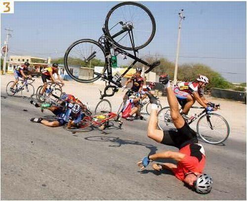 vallende fietsen