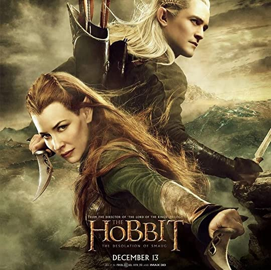 ... to mention pretty kickass she-elves and some sizzling elf/dwarf  romance--well, then you might like the second Hobbit movie more than the  book... ahem!