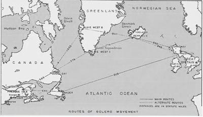 Greenland B17 Map WWII