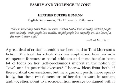 Essays on family love