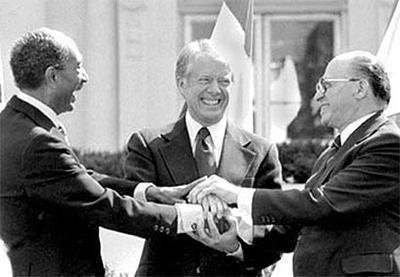 Sadat Carter and Begin Camp David accord